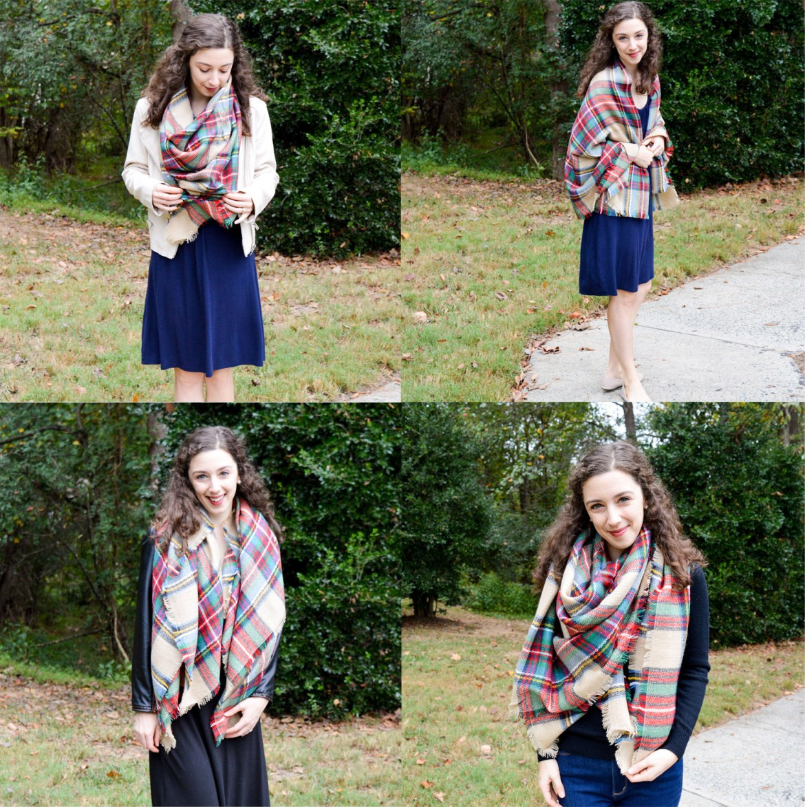 How to Wear a Blanket Scarf | Fashion Inspiration on Hunting for Pink Flamingos
