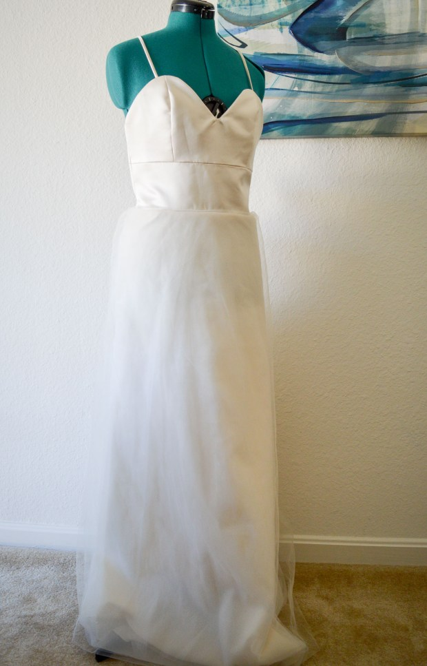Round 1 of altering my wedding dress \\ A-line skirt