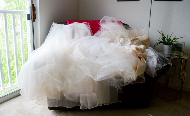 The Process | Yards upon yards of fabric from my wedding dress
