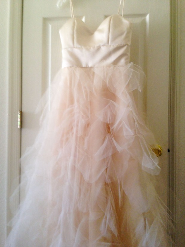 The final product: My wedding dress