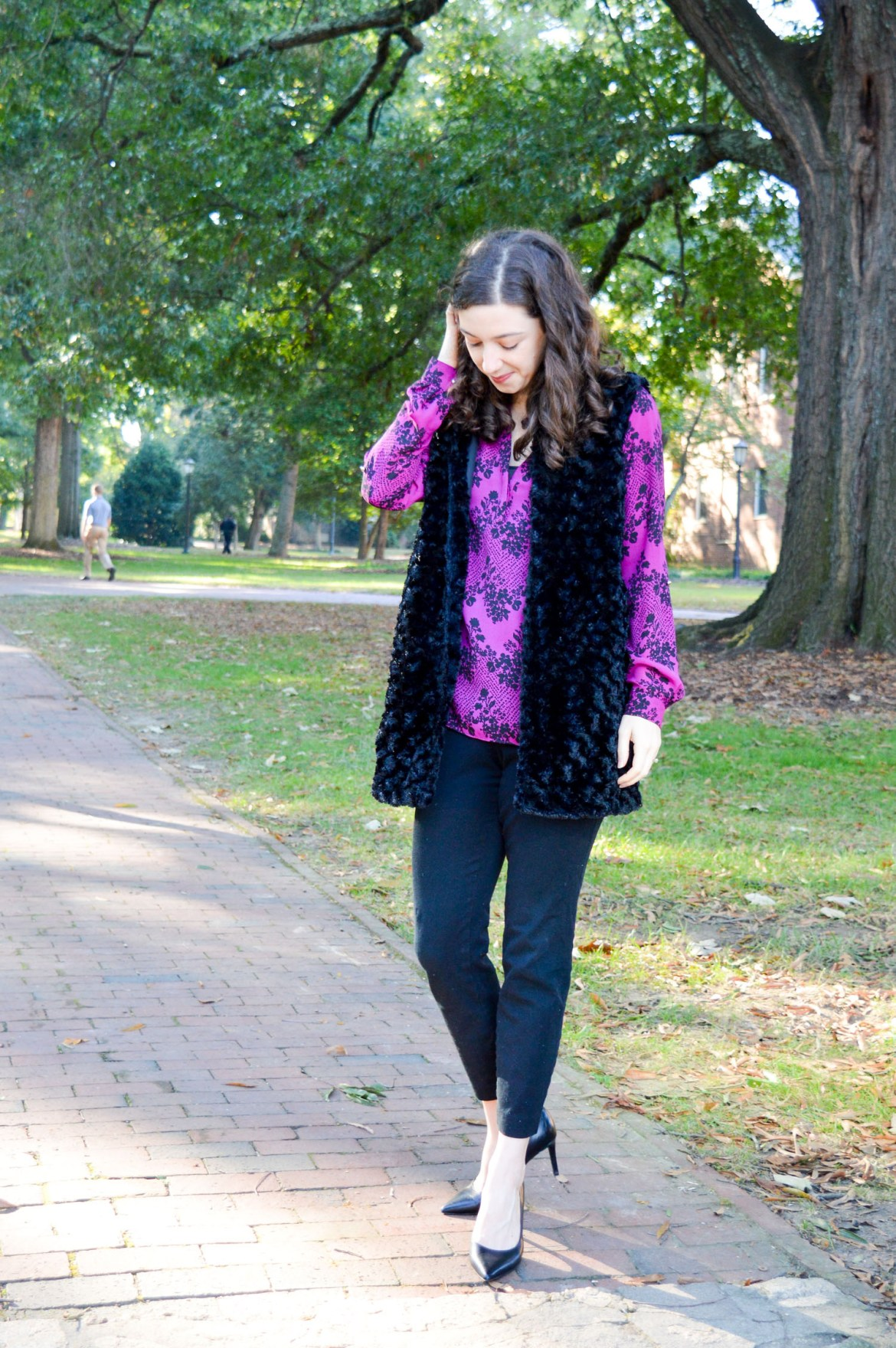 How to wear your fur vest to work