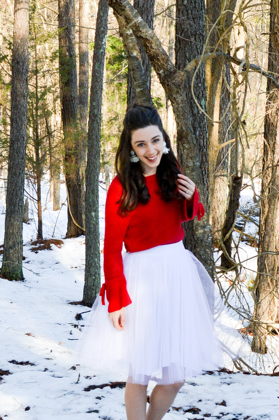 Tulle skirts in the snow // My tulle skirt may be my favorite item in my closet!