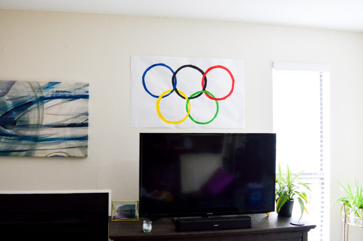 7 Ways to Celebrate the Opening Ceremonies // Make your own Olympic flag