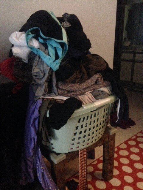 Clothes to donate to Goodwill.
