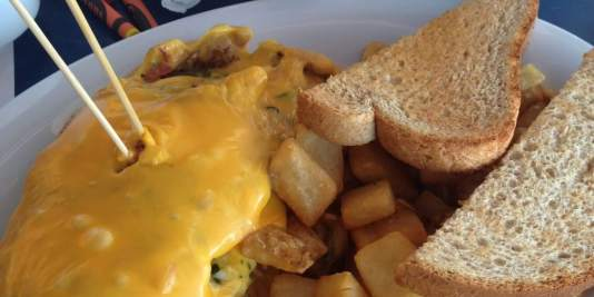 3 Egg Omelet at the Bilmar Beach Cafe in Treasure Island, Florida.