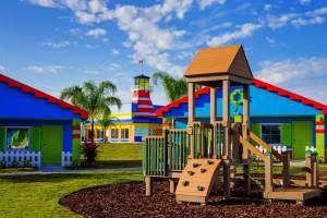One of the 13 playgrounds at the LEGOLAND Beach Retreat in Winter Haven, Florida.
