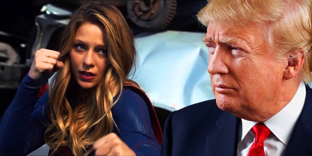 Super Girl-Donald-Trump