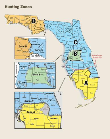 Florida Hunting Zones - Hunting in Florida