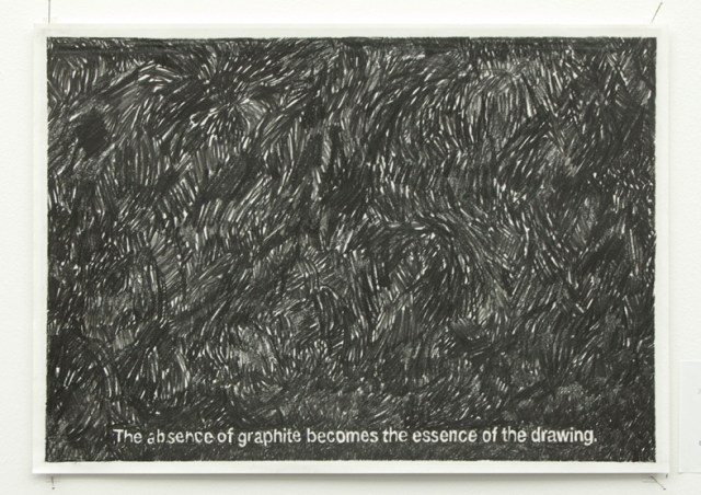 The absence of graphite becomes the essence of the drawing (2014) Tim Hollander