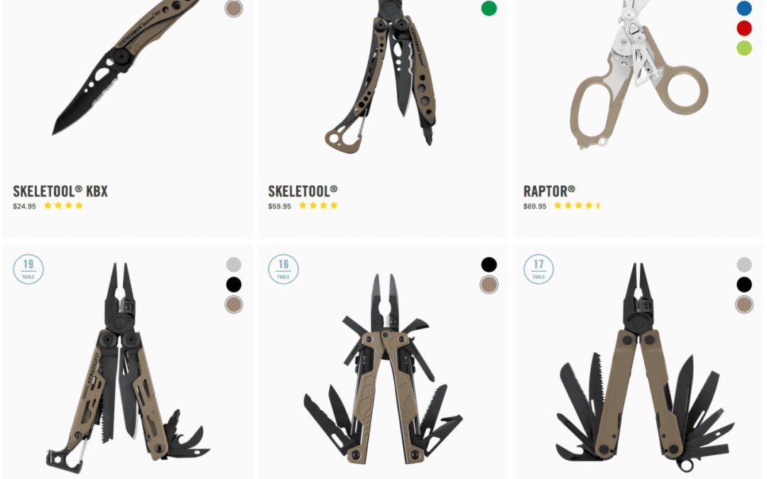 Leatherman has a New Coyote Tan Collection