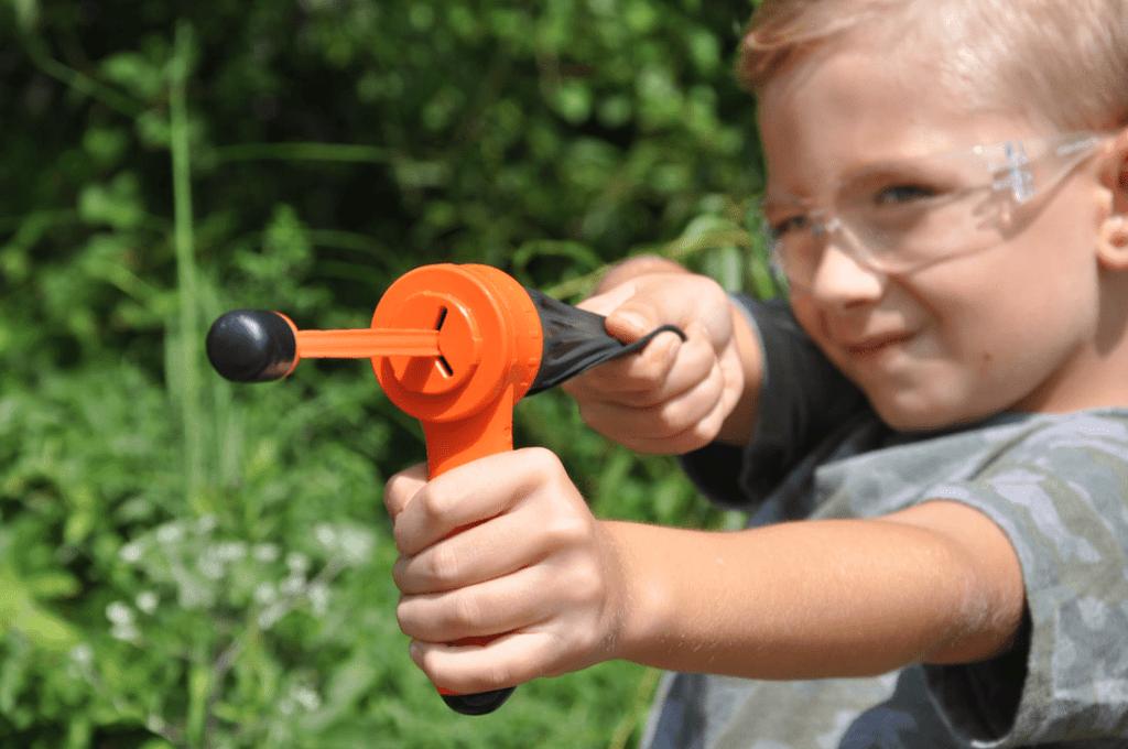 Pocket Shot Junior Arrow Kit in action