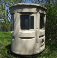 huntingpods.com, window hunting blind, Lightly Tinted, Quiet Operation, No Rust or Squeaking, Customized Ready, As Is