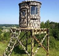 Camo Customizing, Ridge Shooting Blind, Hunt Treetops, huntingpods.com 360° shooting view hunting blind
