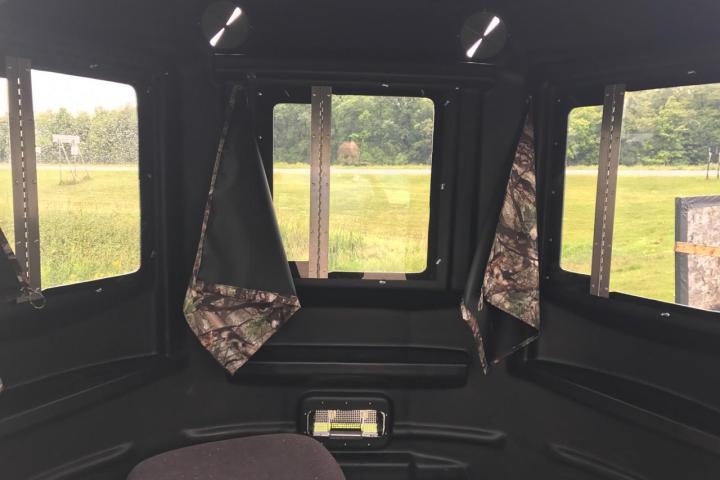 360° Shooting Views, Large Lexan Windows, Bow Hunt, Gun Shoot