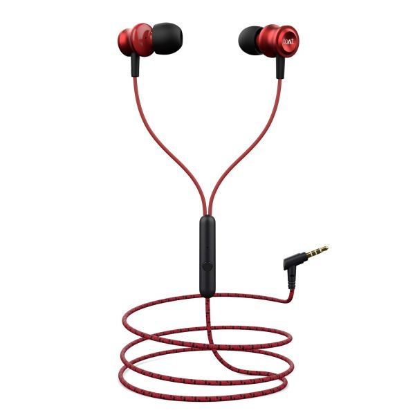 boAt Bassheads 152 in Ear Wired Earphones with Mic (Raging Red)
