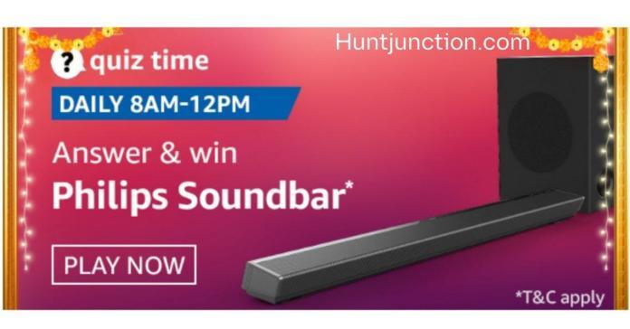 Amazon 11 Oct 2020 Quiz Answers Win Philips Soundbar*