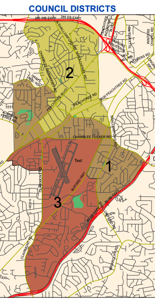 Chamblee City Council District Map