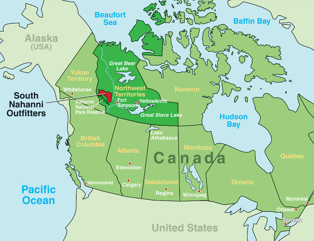 Map Canadian National Parks