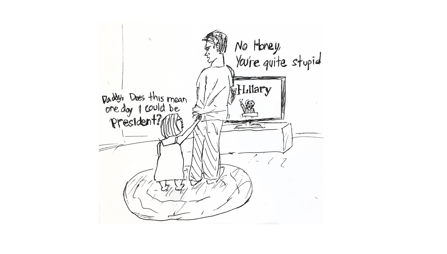 Cartoon: Role model Hillary Clinton