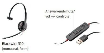 Plantronics Blackwire C310 Microsoft Compatible Headset