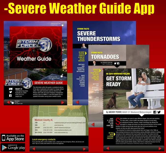 Severe Weather Guide app