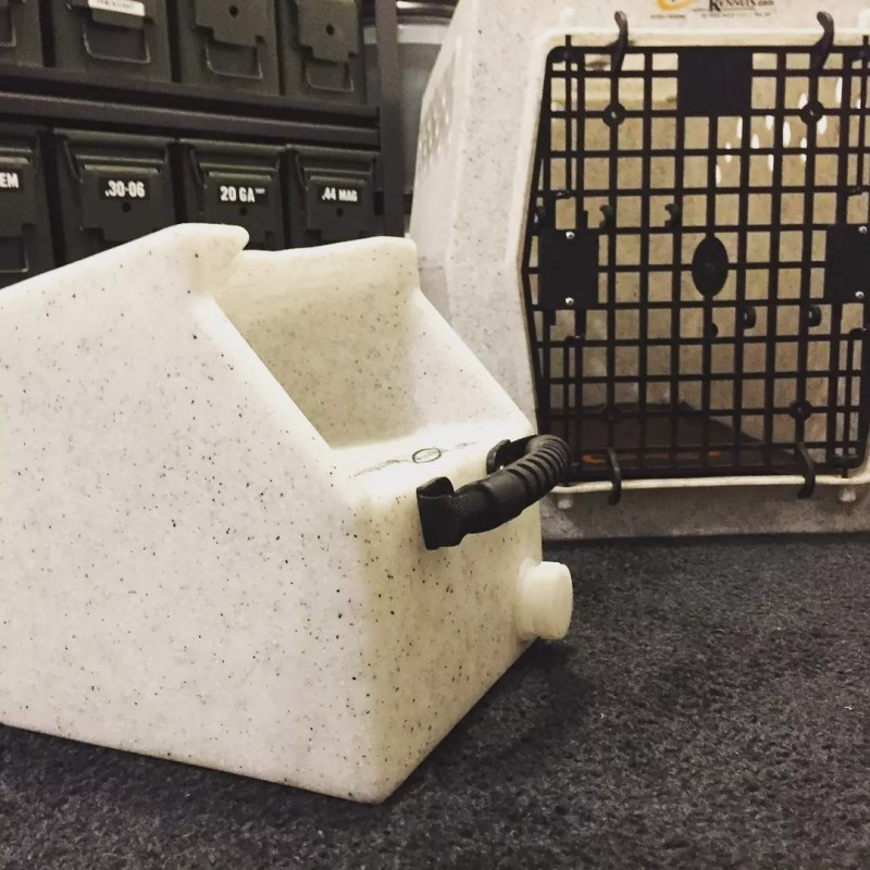 Ruff Tough Water Dish ready for travel