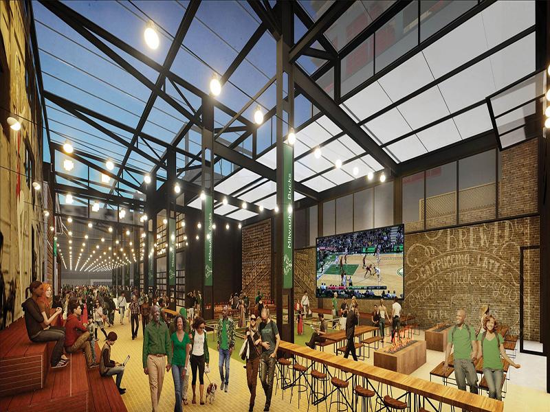Milwaukee Bucks Beer Garden Now Under Construction