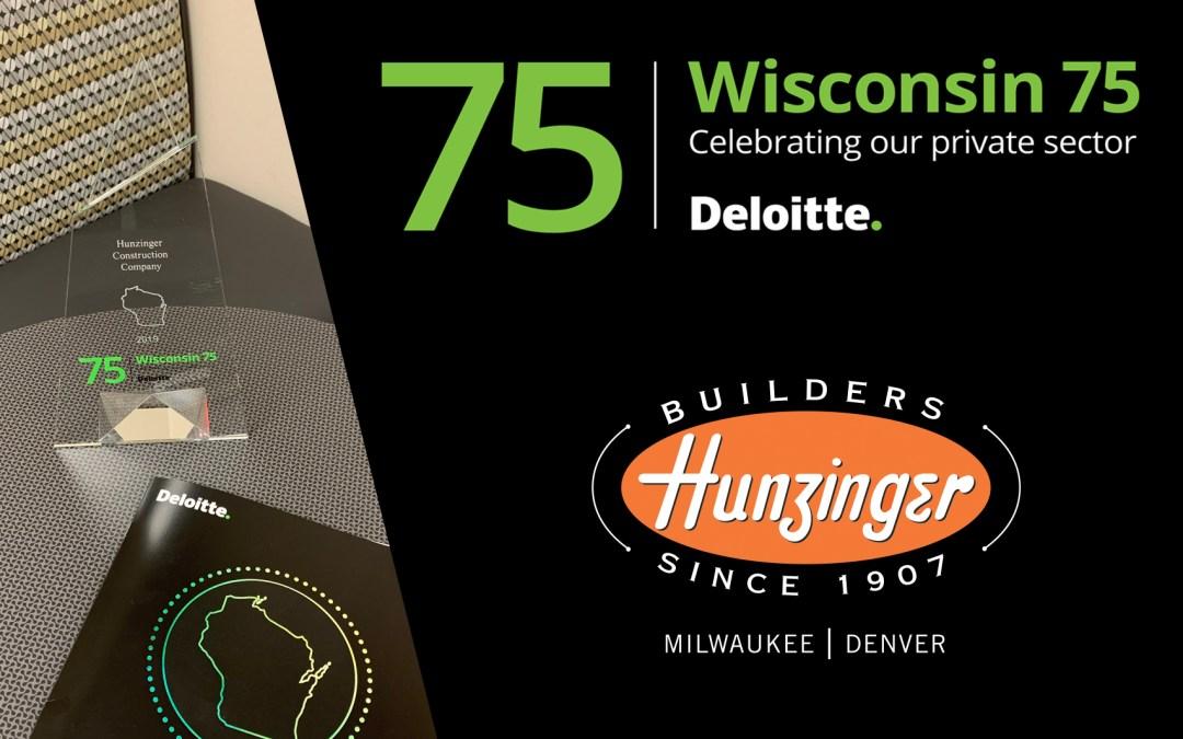 Hunzinger named to Deloitte's Wisconsin 75