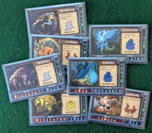 Sample Gruff Cards from Gruff: The Fantasy Card Game