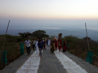 Jain pilgrims on the way to the top of Shatrunjaya Hills near Palitana, Gujarat