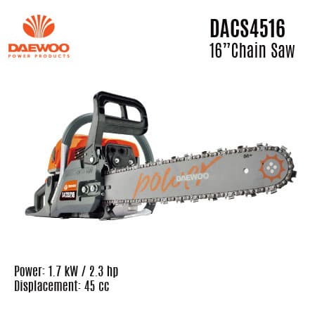 DACS4516 Gasoline Chainsaw