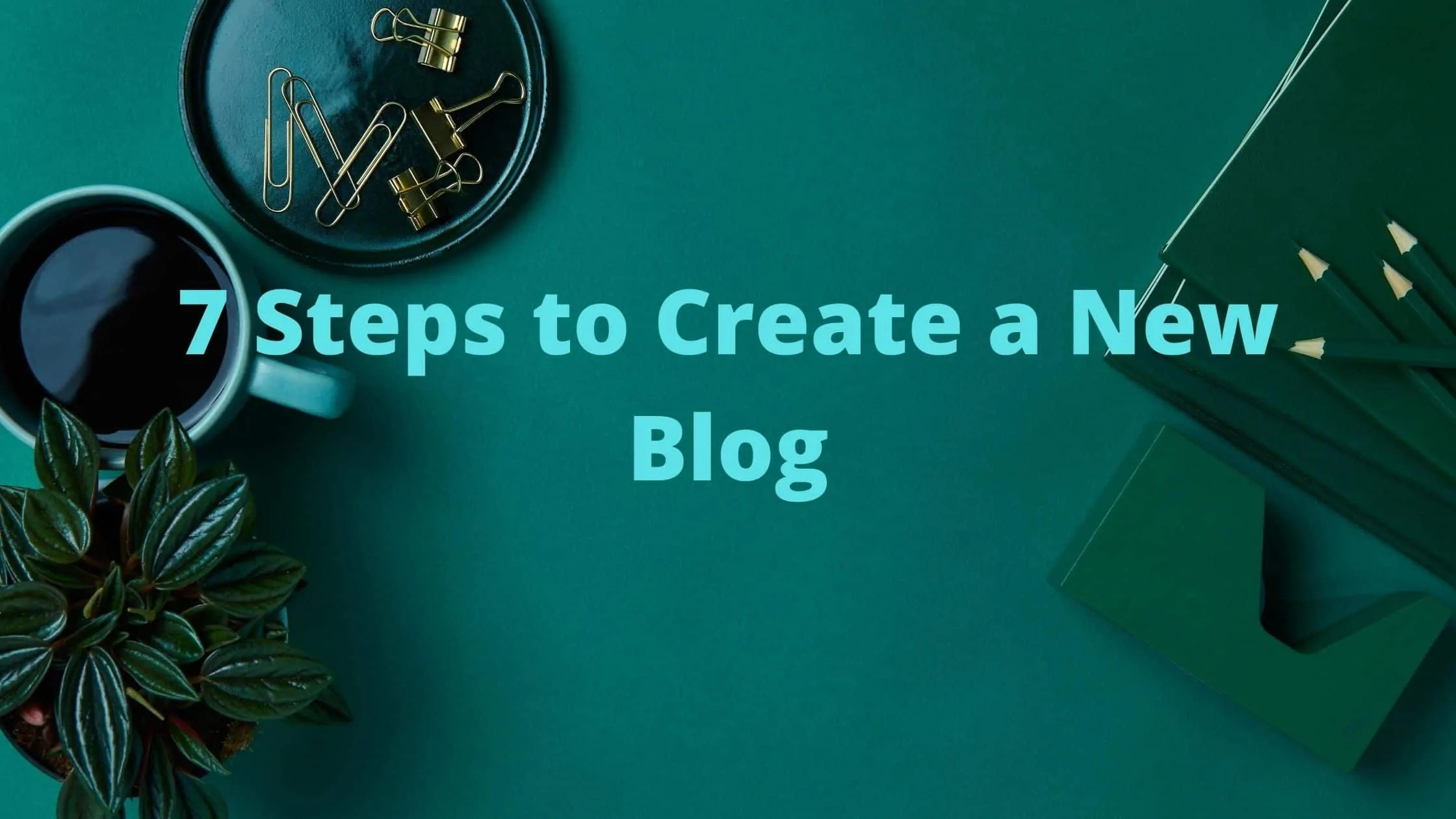 Image with text Create a New Blog