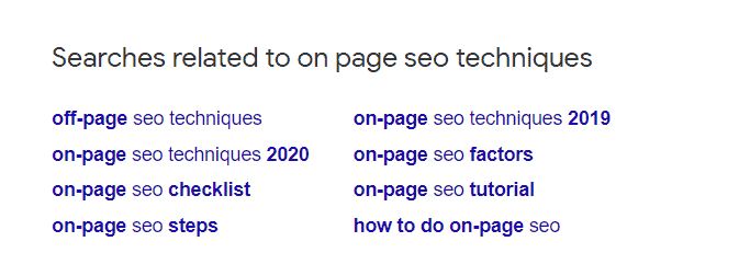 search related query