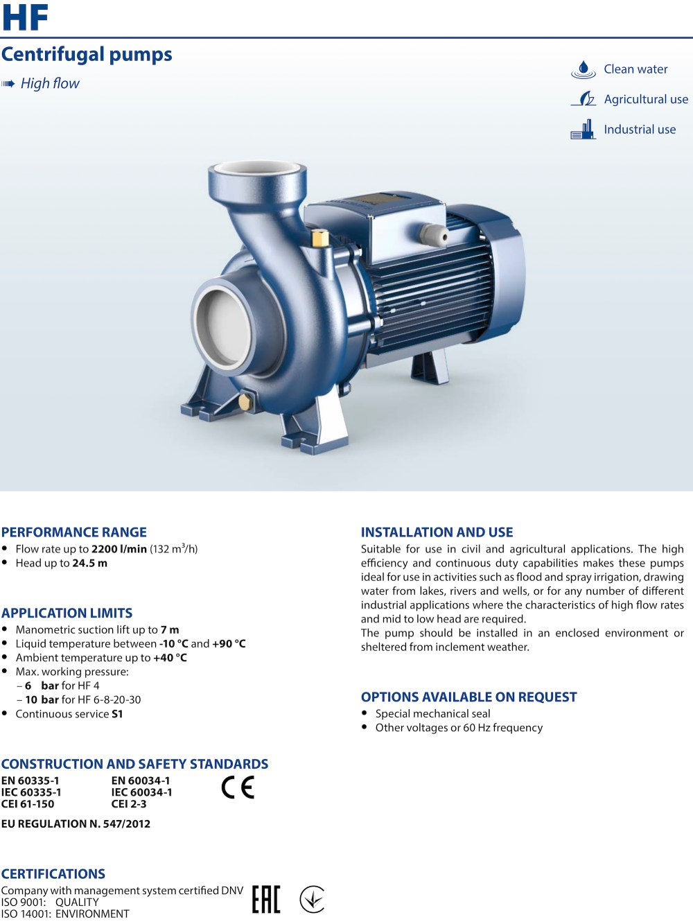 medium resolution of  pedrollo hf30a high flow rate centrifugal water pump on rexroth water pump stanley water pump