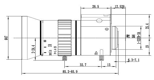 LF550-CS-3MP-F1.4-IR-D 1/2.7