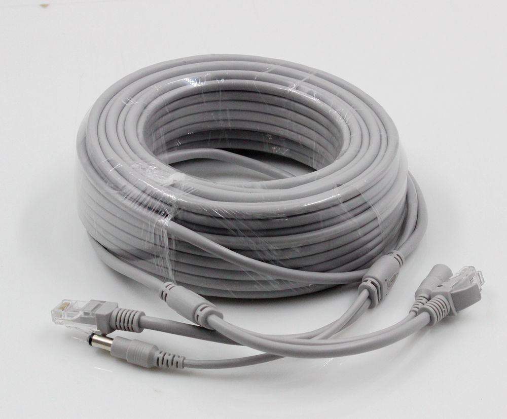 hight resolution of cat5 cat 5e 20m 66ft ethernet cable rj45 dc power cctv network lan cable for