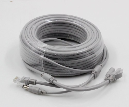 small resolution of cat5 cat 5e 20m 66ft ethernet cable rj45 dc power cctv network lan cable for