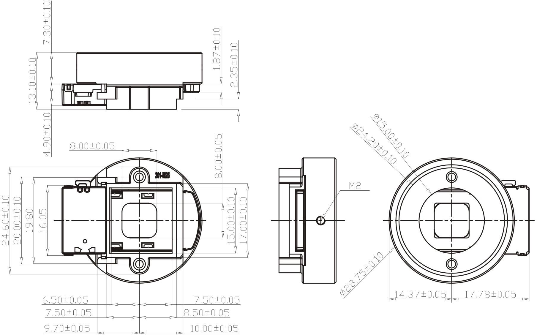 HD IR CUT filter CS lens mount double filter switcher for