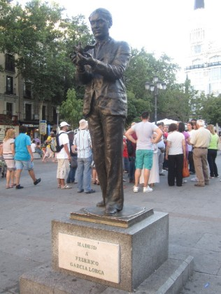 A Monument in Honor of the Famous Author Federico Garcia Lorca (If you noticed, I wrote about him in my last post, since I visited his park in Granada, where he was born)