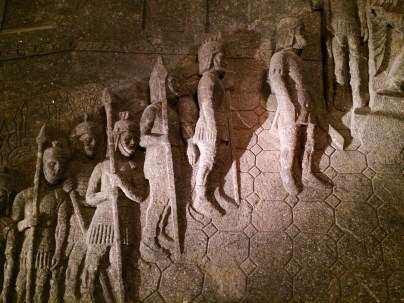 Salt-Made Sculpture at Wieliczka Salt Mine Cathedral