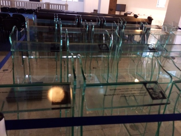 Glass Memorials Commemorating Lives of Hungarian Jews In the Holocaust