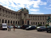 Austrian National Library Behind In Back of Hofsburg Palace