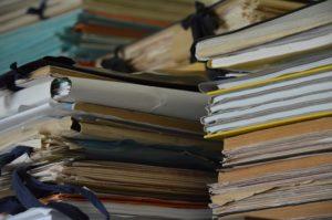 File folders of paperwork