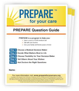 PREPARE for your care