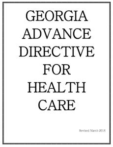 Georgia Advance Directive Form