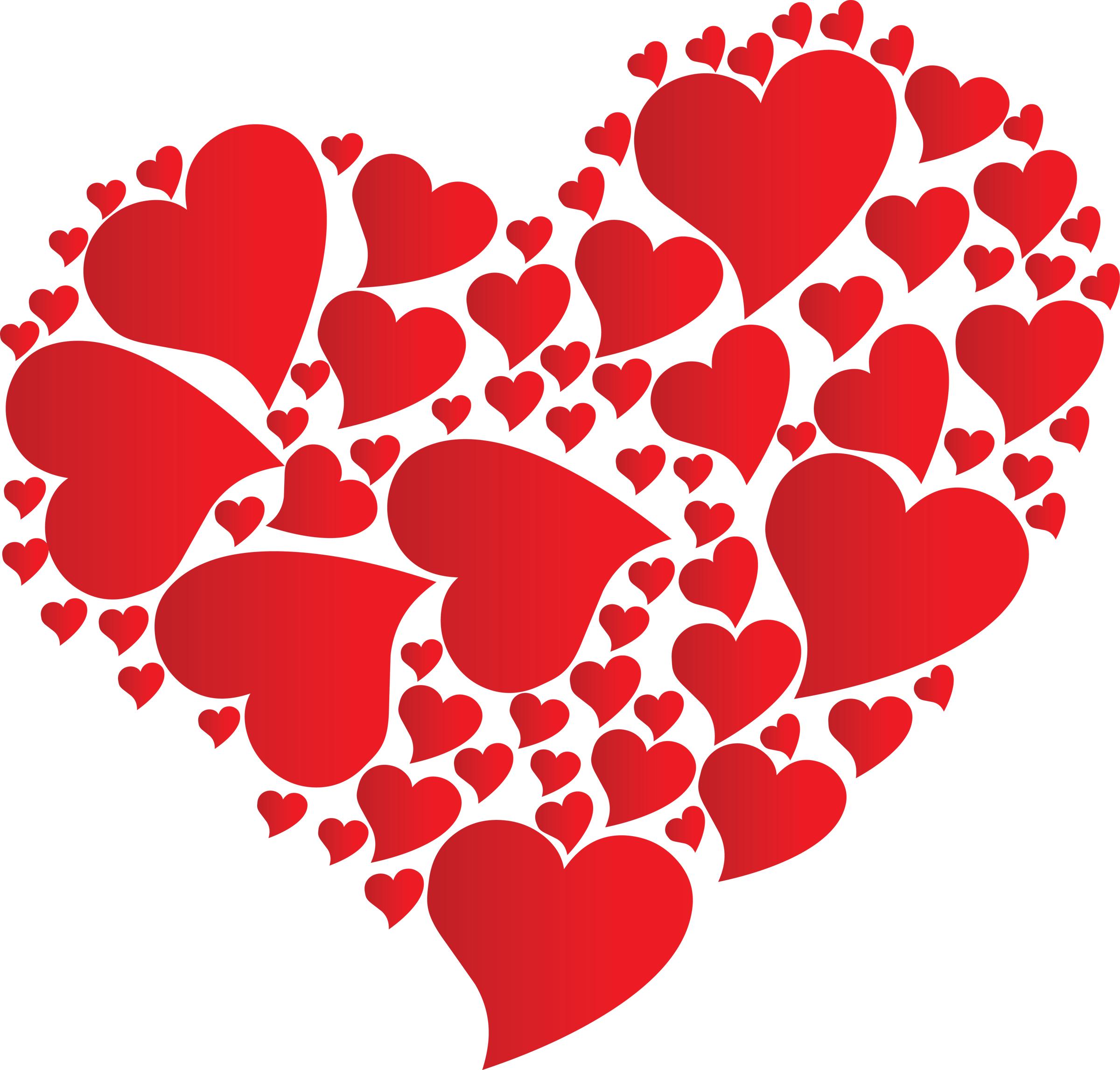 heart made of hearts
