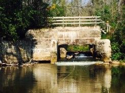Buhl Dam outlet looking upstream