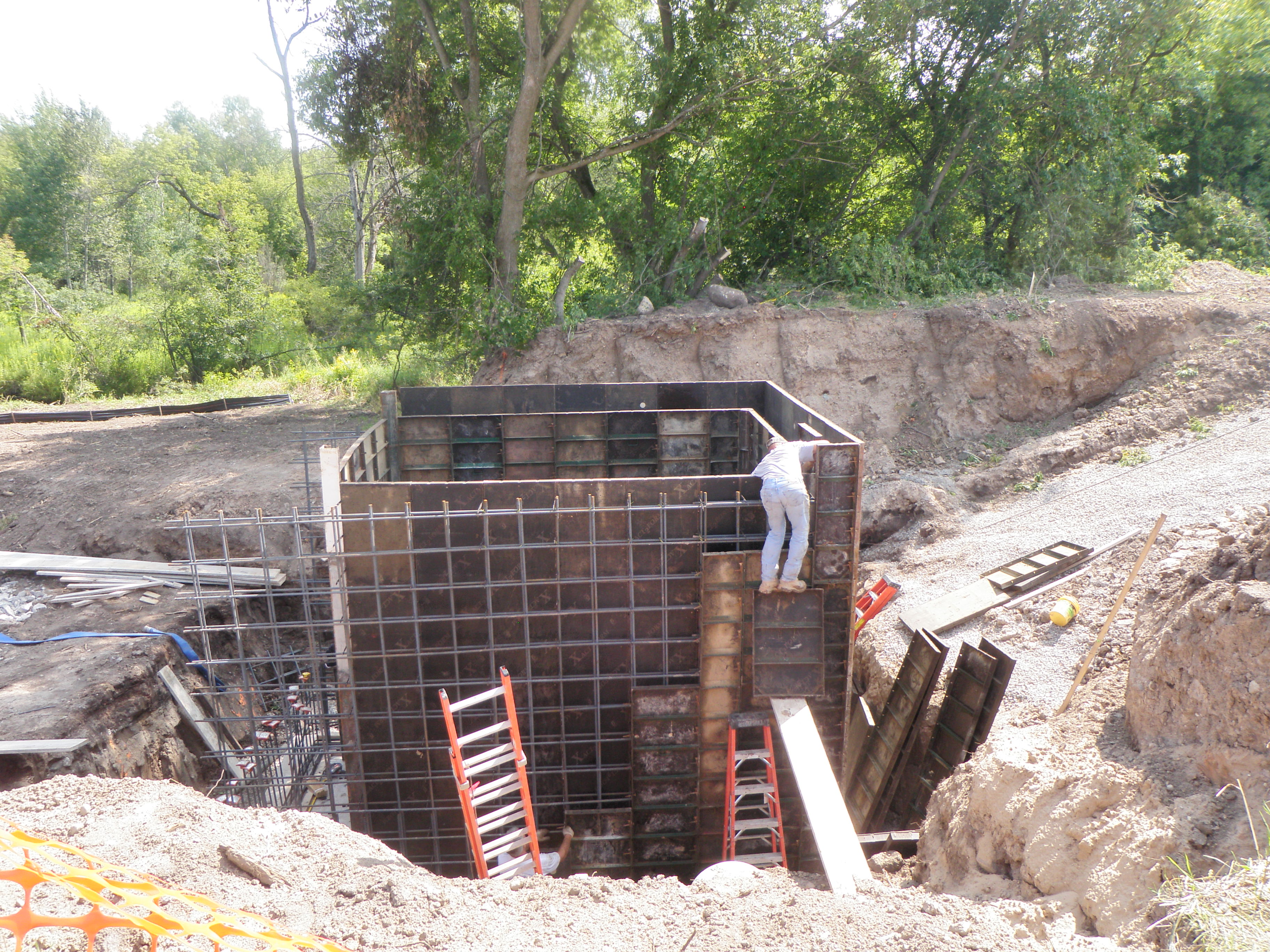 A custom unit was built to treat almost all the stormwater from the City of Rose City
