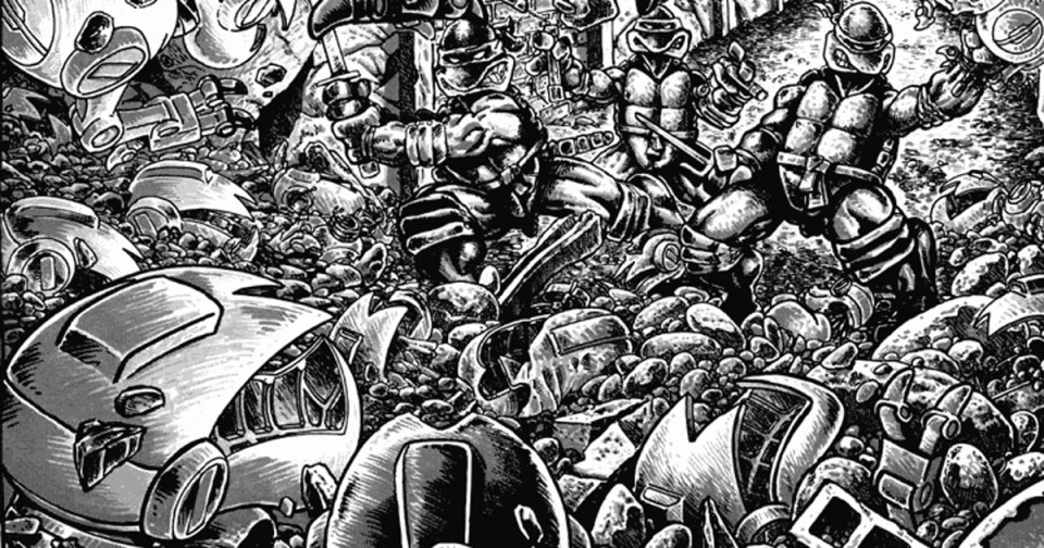 Ensimmäisissä Turtles-sarjiksissa mouserit tunkeutuvat kilppareiden kotiin ja kidnappaavat Mestari Tikun.