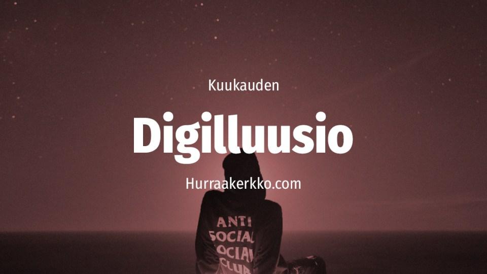 Digilluusio sosiaalisen median ammattilainen